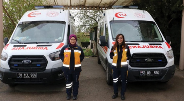 Sivas'ın kadın ambulans şoförleri erkek meslektaşlarına taş çıkartıyor