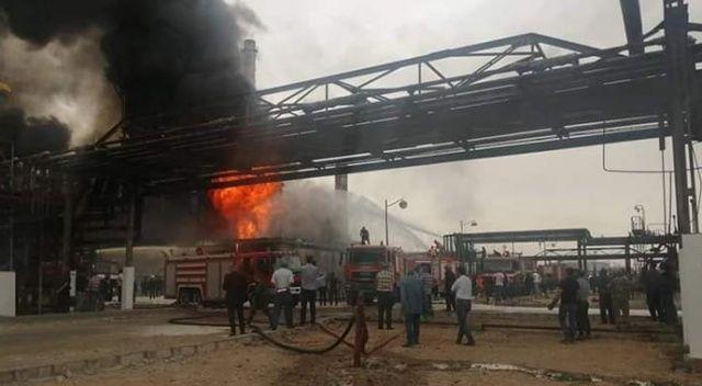 Suriye'de rejime ait petrol rafinerisinde yangın