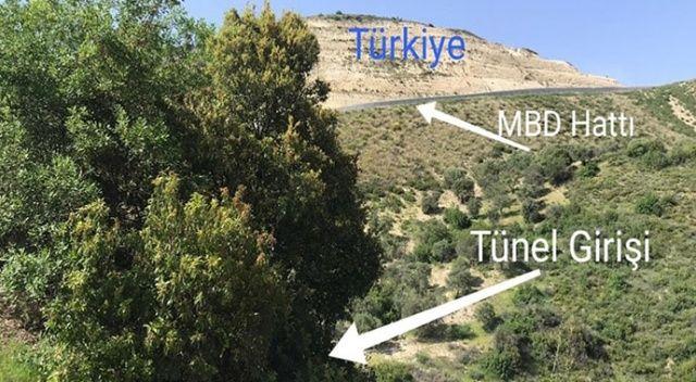 Suriye'den Türkiye istikametine kazılan tünel tespit edildi