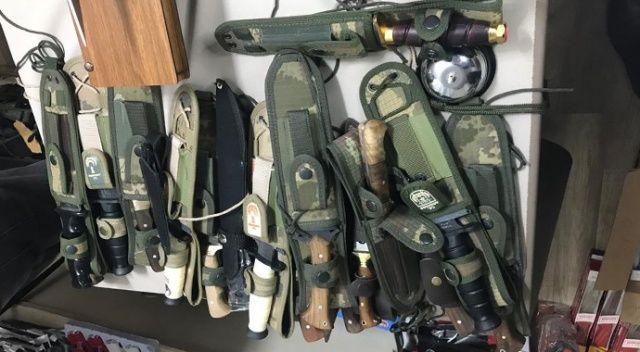 Uşak'ta 229 adet kesici alet satılmadan ele geçirildi