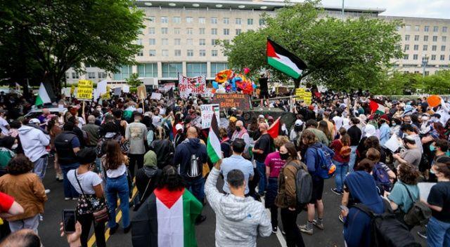 Washington'da binlerce kişi Filistin için yürüdü