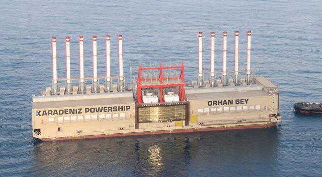 Yüzer enerji santralimiz Lübnan'a elektriği kesti
