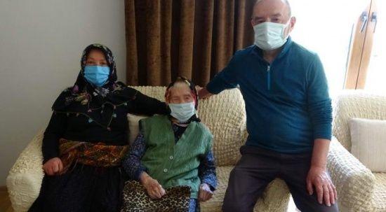 Trabzon'un en yaşlı annesi! 106 yaşında 5 çocuk annesi 60 torun sahibi