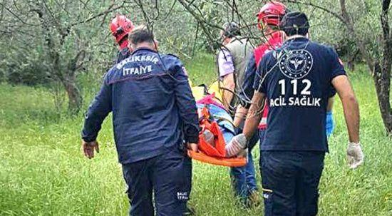 70 yaşındaki kadın 20 metre yükseklikten dereye düştü