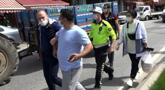 Ceza yiyen karı-koca polise bağırarak, bela okudu