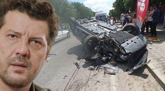 İlker Aksum kaza yaptı, aracı hurdaya döndü