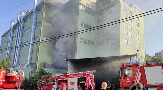 Kumaş fabrikasında yangın