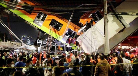 Meksika'da metro üst geçidi çöktü: 23 ölü 70 yaralı