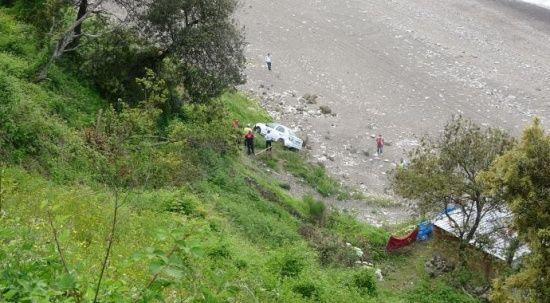 Piknik yapan vatandaşlar faciadan böyle kurtuldu