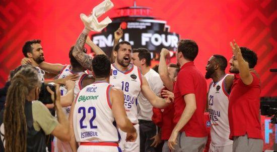 Şampiyon olan Anadolu Efes'e tebrik mesajları
