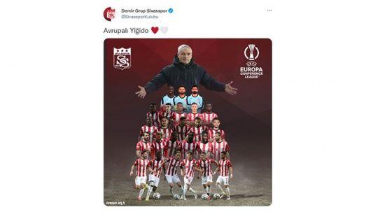 Sivasspor'dan dikkat çeken Avrupa paylaşımı