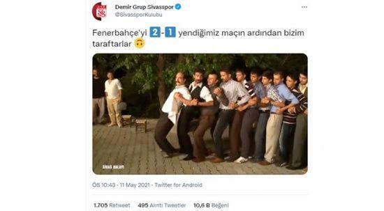 Sivasspor'dan Fener maçı sonrası dikkat çeken paylaşım