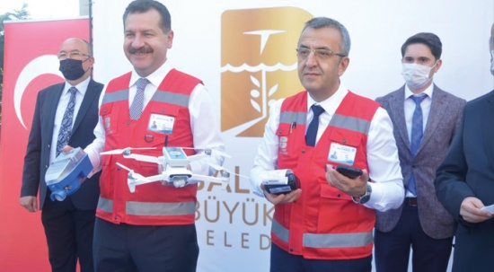 Su faturaları drone ile kesildi
