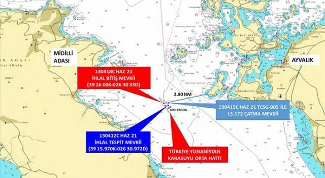 Ayvalık açıklarında gergin anlar: Türk sahil güvenliği Yunanlıları kovaladı