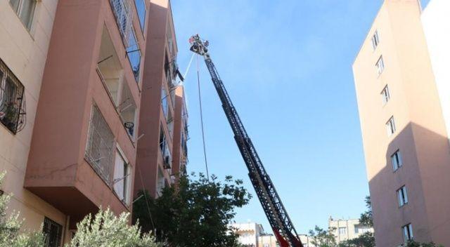 5 katlı binada yangın