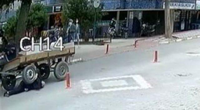 84 yaşındaki adamı at arabası ezdi
