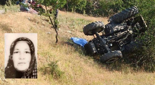 Acı olay! 2 çocuk annesi kadın traktör kazasında hayatını kaybetti