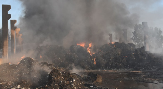 Adana'da geri dönüşüm tesisinde yangın