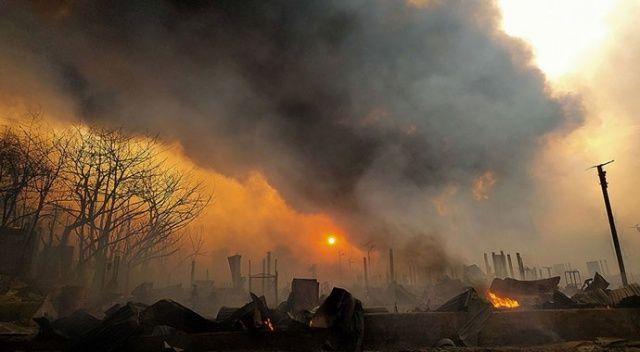 Arakanlı Müslümanların kampında yangın