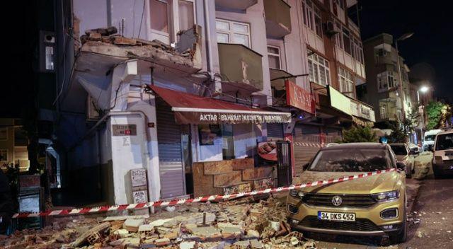 Avcılar'da balkonu çöken bina boşaltıldı