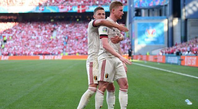 B Grubu'nda Belçika, Danimarka'yı 2-1 mağlup etti