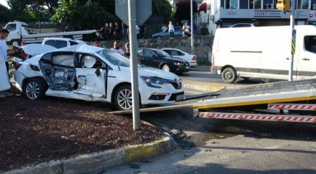 Beykoz'da feci kaza! 1 aylık bebek dahil 4 yaralı