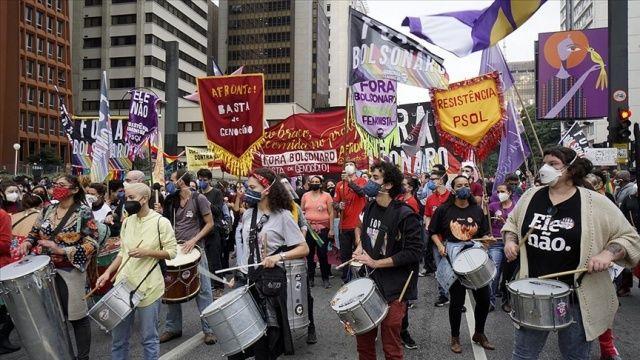 Brezilya'da Bolsonaro hükümetine karşı protestolar düzenlendi