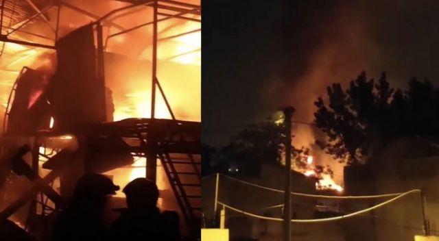 Bursa'da geri dönüşüm fabrikası kül oldu