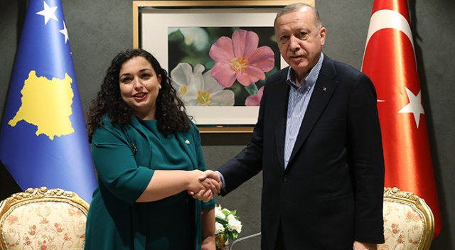 Cumhurbaşkanı Erdoğan, Kosovalı mevkidaşı ile görüştü