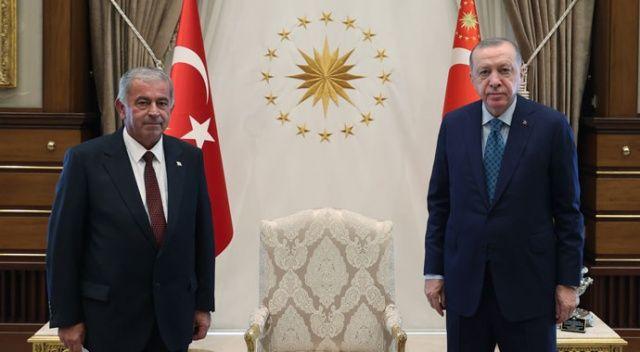 Erdoğan, KKTC Meclis Başkanı Sennaroğlu'nu kabul etti