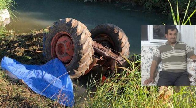 İki çocuk babası adam devrilen traktörün altında can verdi