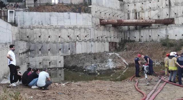 Kağıthane'de inşaattaki gölete giren çocuklardan 1'İ öldü