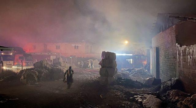Kahramanmaraş'ta fabrika yangını! 16 araç müdahale etti