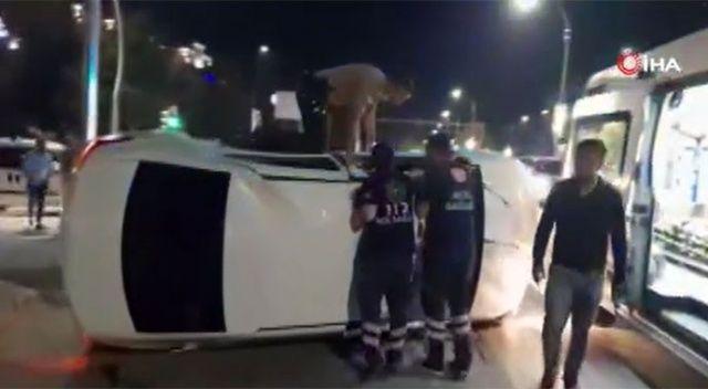 Kaza yapan 16 yaşındaki sürücü kaçarken yakalandı