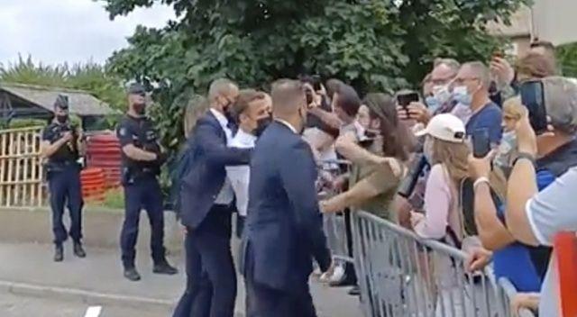 Macron'u tokatlayan kişinin kimliği belli oldu