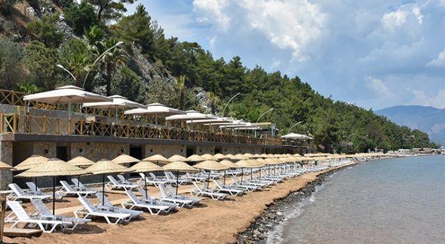 Marmaris'e beş yıldızlı otel konforunda halk plajı