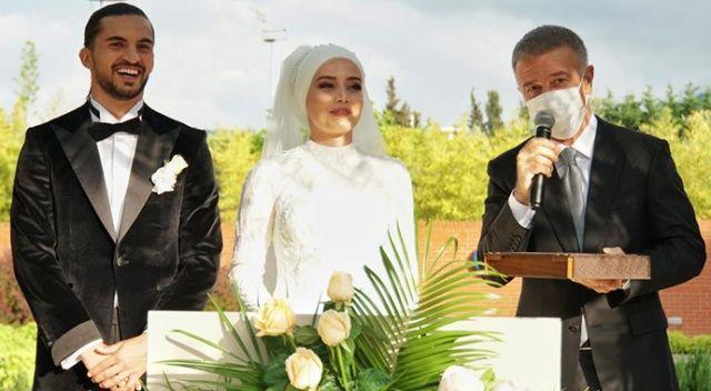 Trabzonsporlu futbolcu Hüseyin Türkmen evlendi