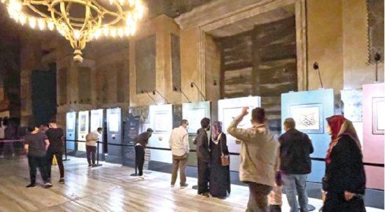 Ayasofya'daki hat sergisi  büyük ilgi görüyor