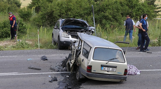 Bolu'da feci kaza, karı koca öldü