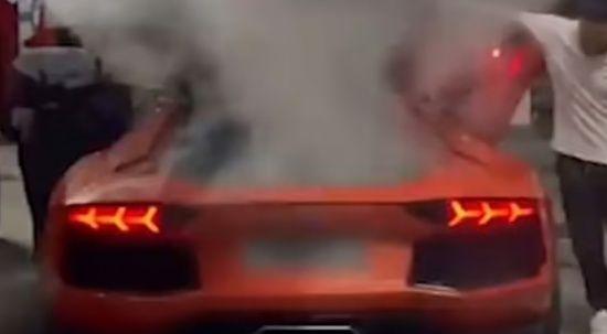 Egzozda kebap Lamborghini'yi yaktı