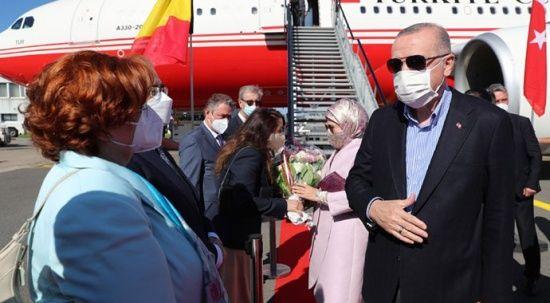 Erdoğan, NATO Zirvesi'ne katılmak üzere Brüksel'e gitti