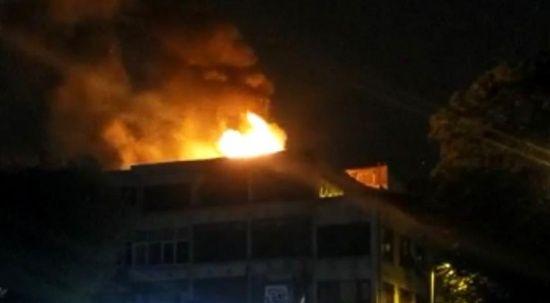Fatih'te bir işyerinde yangın çıktı!