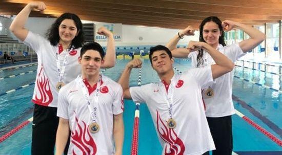 Genç millîler İtalya'dan altın madalyayla döndü