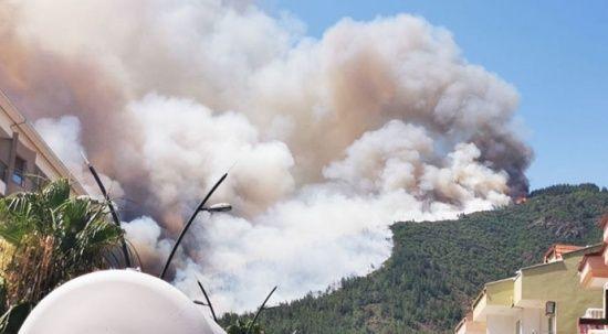 Marmaris'te orman yangını: 1 şehidimiz var