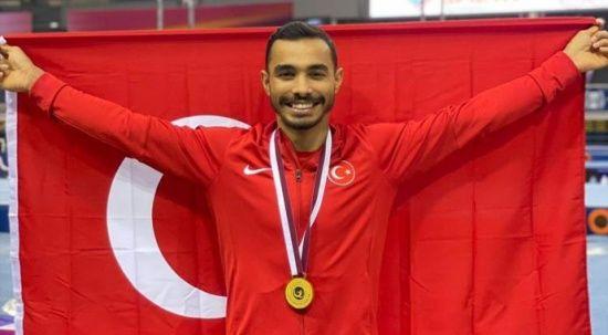Milli sporcumuz Ferhat Arıcan'dan altın madalya