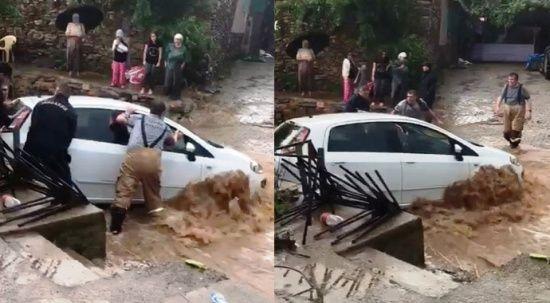 Ödemiş'i sağanak vurdu: Tarım arazileri sular altında kaldı