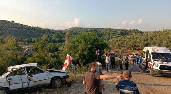 Osmaniye'de virajı alamayan otomobil takla attı: 1 ölü, 5 yaralı
