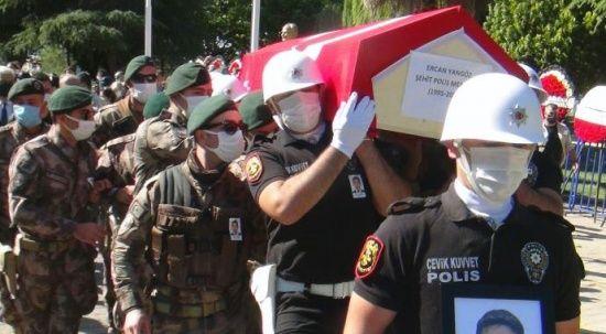 Şehit polis memuru için Muğla'da tören düzenlendi