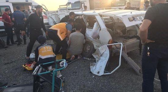 Siirt'te feci kaza, ölü ve yaralılar var