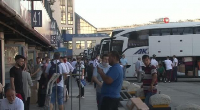 15 Temmuz Demokrasi Otogarı'nda vatandaş yoğunluk oluşturdu